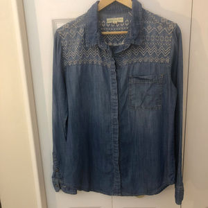 Urban Outfitters/Staring at Stars ls denim top